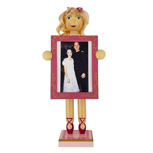 Clara Nutcracker with Picture Frame and Pink Dress 12 inch - Nutcracker Ballet Gifts