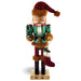 Woodsman Santa wearing Red and Black Flannel with Brown Fur 14 inch - Nutcracker Ballet Gifts