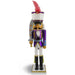Nutcracker Soldier in Purple Foil Jacket with Crown 15 Inch - Nutcracker Ballet Gifts