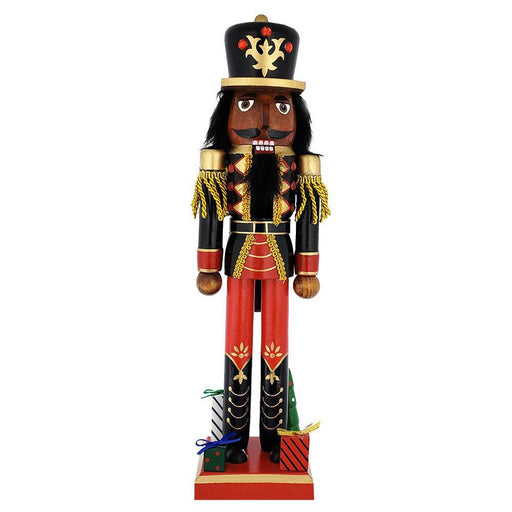 African American Soldier Nutcracker Black Red Gifts Base 15 inch - Nutcracker Ballet Gifts