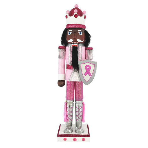 African American Breast Cancer Support King Nutcracker Ribbon 15 inch - Nutcracker Ballet Gifts