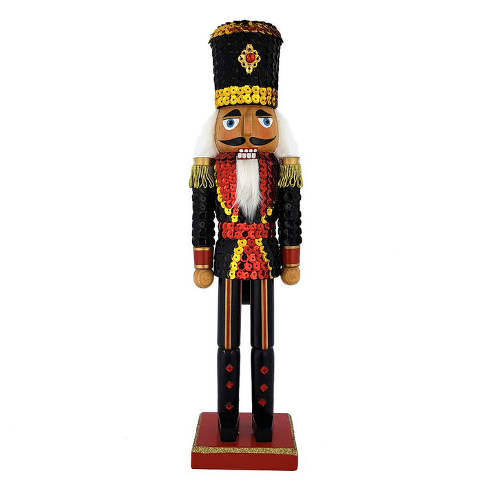 Soldier Sequin Nutcracker Blue Red Jacket and Top Hat 15 inch - Nutcracker Ballet Gifts