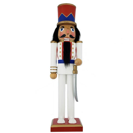 Classic Soldier Nutcracker Pearl White Blue Red Jacket Hat 15 inch - Nutcracker Ballet Gifts