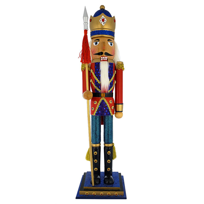Soldier Nutcracker with Gold and Red Jacket and Gold Crown 20 inch - Nutcracker Ballet Gifts