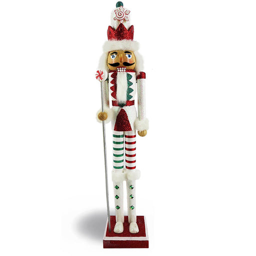 Candy Cane Nutcracker Red Candy Striping Slim 20 inch - Nutcracker Ballet Gifts