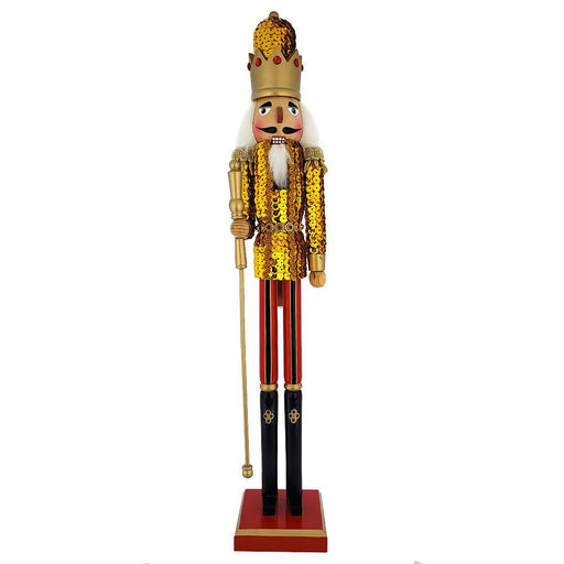 King Sequin Nutcracker Gold Jacket and Gold Crown 20 inch - Nutcracker Ballet Gifts