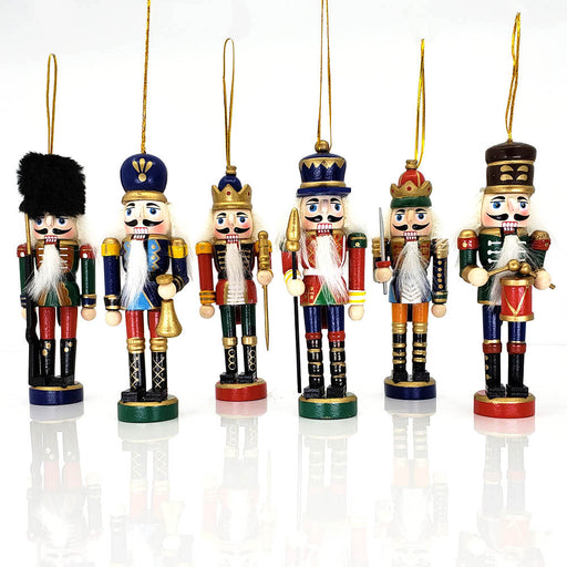 Classic Nutcracker Ornament Set of 6 Multicolor 5 inch-Nutcracker Ballet Gifts