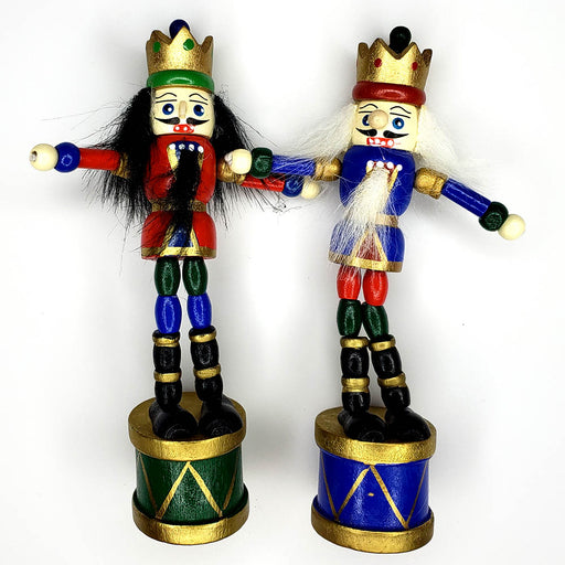 Push Puppet Nutcracker Ornament Assorted 5 inch - Nutcracker Ballet Gifts