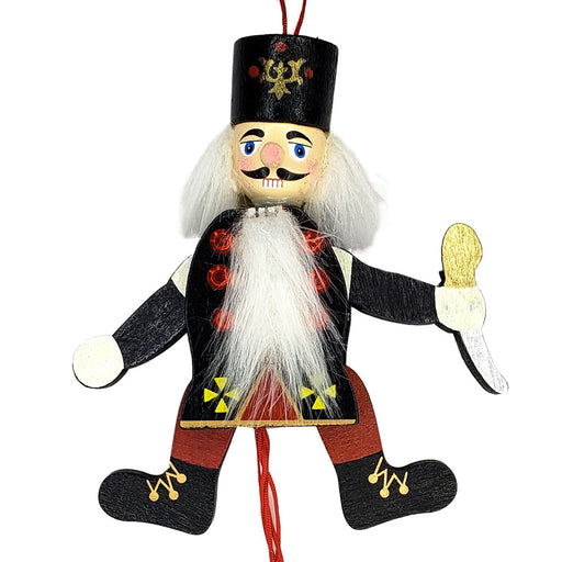 Nutcracker Pull Puppet Black Ornament 6 inch - Nutcracker Ballet Gifts