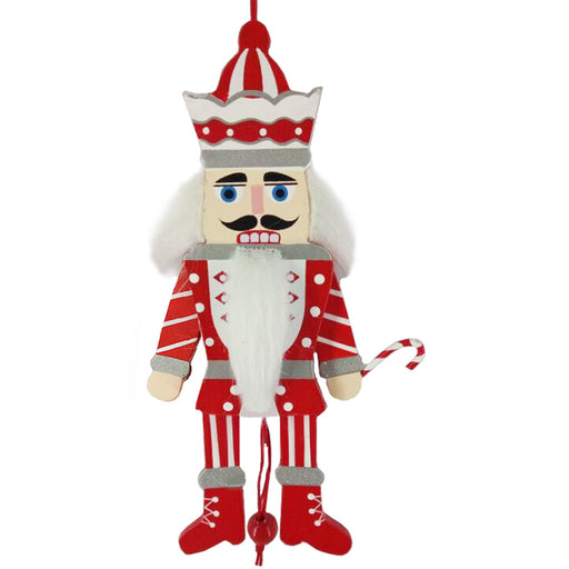 Candy Cane Pull Puppet Nutcracker Ornament 6 inch - Nutcracker Ballet Gifts