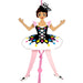 Harlequin Doll Dancer Pull Puppet Ornament 6 inch - Nutcracker Ballet Gifts