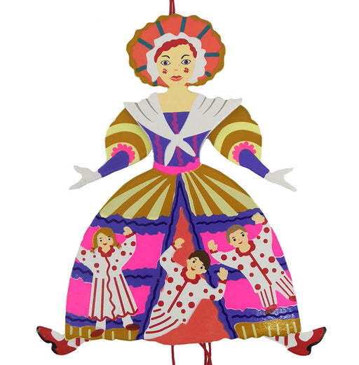 Mother Ginger Pull Puppet Ornament 6 inch - Nutcracker Ballet Gifts