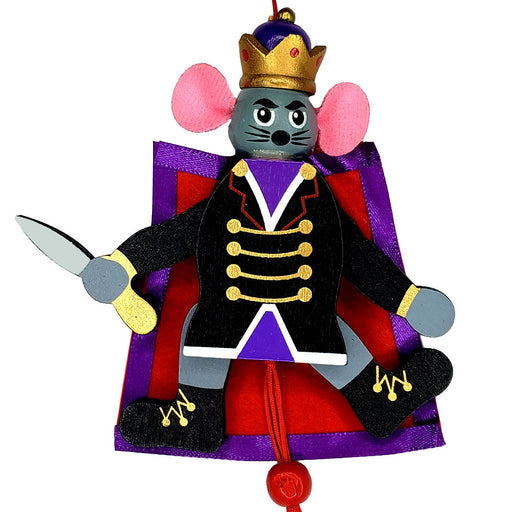 Mouse King Pull Puppet Ornament 5 inch - Nutcracker Ballet Gifts