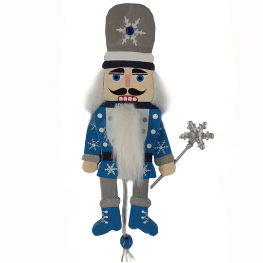 Snow Fantasy Nutcracker Pull Puppet Ornament 6 inch - Nutcracker Ballet Gifts