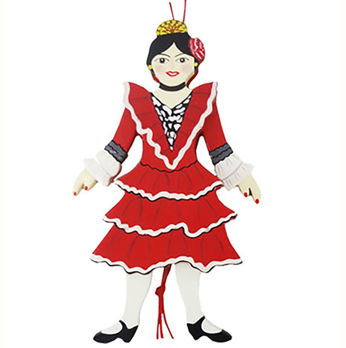 Spanish Dancer Land Of Sweets Pull Puppet Ornament 6 inch - Nutcracker Ballet Gifts