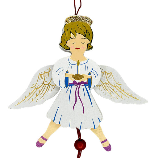 Angel Land of Sweets Pull Puppet Ornament Blonde Hair 5 and a half inch-Nutcracker Ballet Gifts