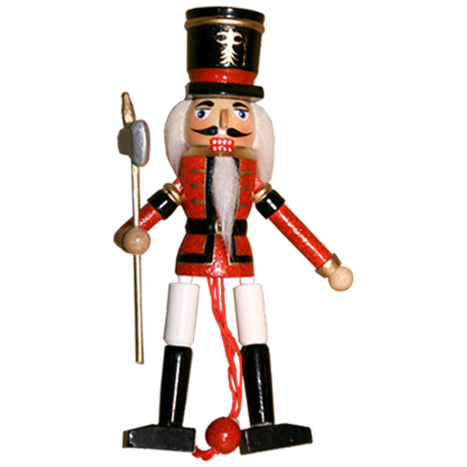 Soldier Nutcracker Pull Puppet Ornament 6 inch - Nutcracker Ballet Gifts