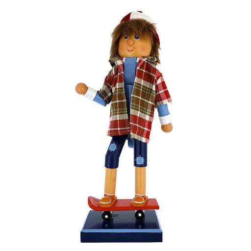 Skateboarding Nutcracker Boy with Cap and Shorts 14 inch - Nutcracker Ballet Gifts