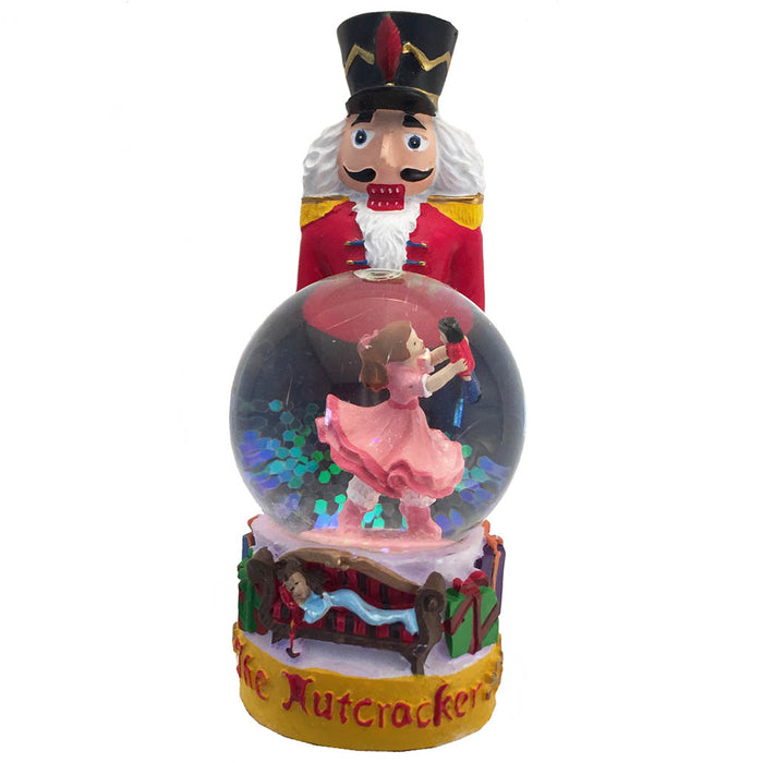 Nutcracker Figurine with Clara Mini Snow Globe - Nutcracker Ballet Gifts