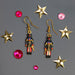 Multi Color Enameled Soldier Nutcracker Earrings - Nutcracker Ballet Gifts