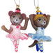 Ballerina Mouse Ornaments Set of 2 2 inch - Nutcracker Ballet Gifts