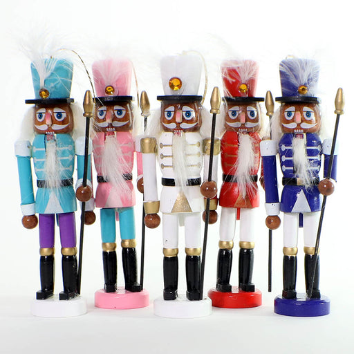 Multicolor Ethnic Nutcracker Ornaments Set of 5-Nutcracker Ballet Gifts