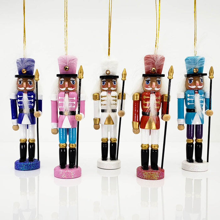 Multicolor Nutcracker Ornaments Set of 5 Ornaments 6 inch - Nutcracker Ballet Gifts
