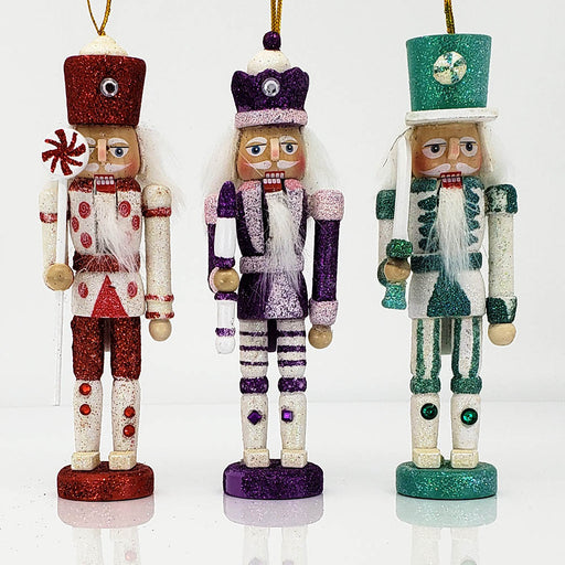 Candy Cane Nutcracker Ornament Set of 3 in 6 inch - Nutcracker Ballet Gifts