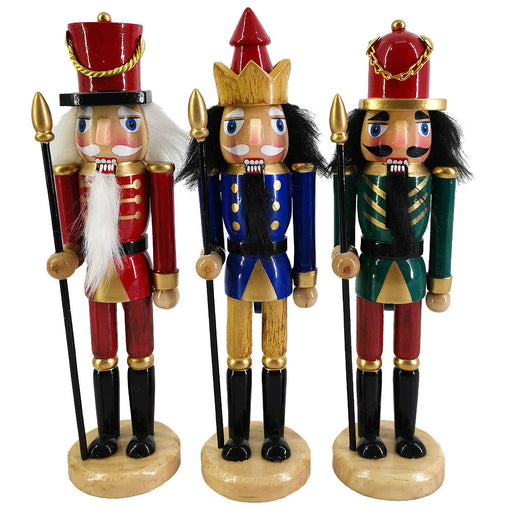 Woodsmen Nutcracker Ornaments set of 3 in 6 inch - Nutcracker Ballet Gifts