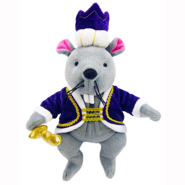 Plush Mouse King Doll with Royal Crown and Jacket 12 inch - Nutcracker Ballet Gifts