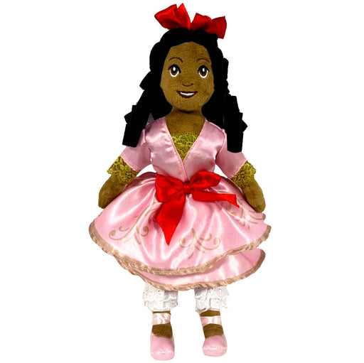 African American Clara Plush Doll in Pink Satin Dress 14 Inch - Nutcracker Ballet Gifts