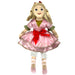 Clara Plush Doll in Soft Pink Satin Dress and Red Bow 14 inch - Nutcracker Ballet Gifts