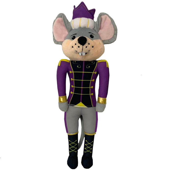 Plush Mouse King Doll with Royal Purple Jacket and traditional Crown 12 inch - Nutcracker Ballet Gifts