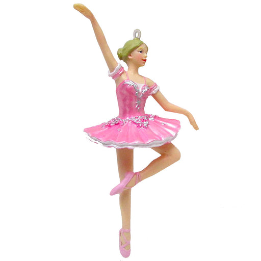 Ballerina in Pink Tutu Resin Ornament 4 inch - Nutcracker Ballet Gifts