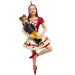 Clara on Pointe with Nutcracker Resin Ornament 4 inch - Nutcracker Ballet Gifts
