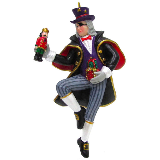 Uncle Drosselmeyer Resin Ornament with Nutcracker 4 inch - Nutcracker Ballet Gifts
