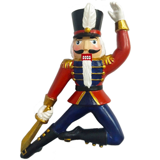 Nutcracker Soldier Resin Ornament with Sword 4 inch - Nutcracker Ballet Gifts