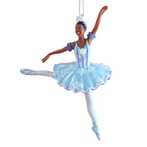 African American Snow Queen Snowflake Resin Ornament 4 inch - Nutcracker Ballet Gifts