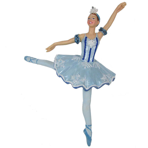 Snow Queen Snowflake Resin Ornament 4 inch - Nutcracker Ballet Gifts