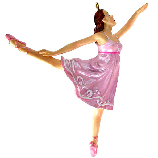 Pink Arabesque Ballerina Resin Ornament 4 inch-Nutcracker Ballet Gifts