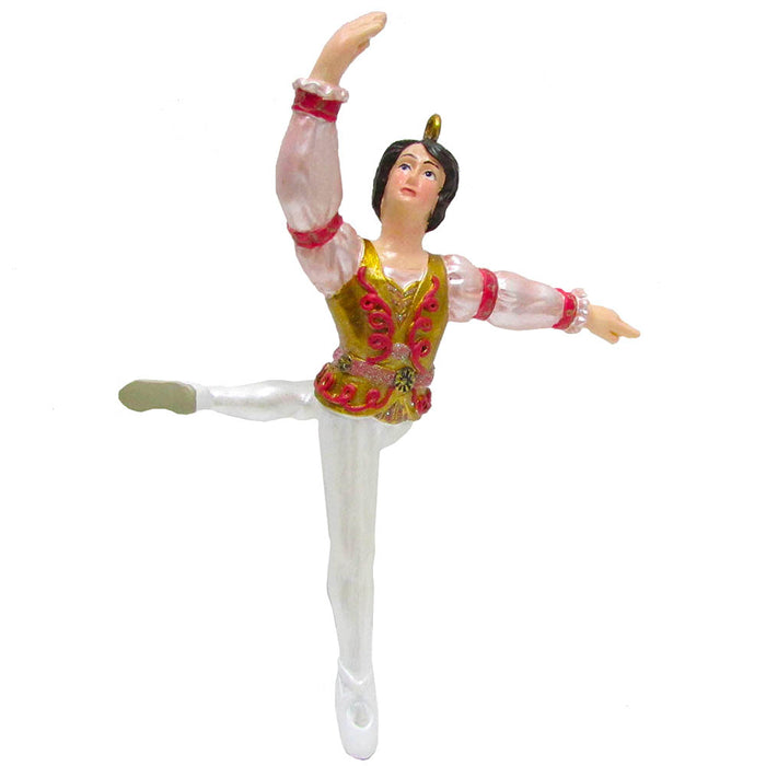 Rose Gold Prince Resin Ornament 4 inch - Nutcracker Ballet Gifts