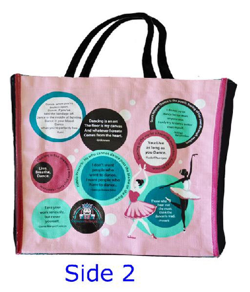 Reusable Ballet Quotes Design Shopping Ballet Bag - Nutcracker Ballet Gifts