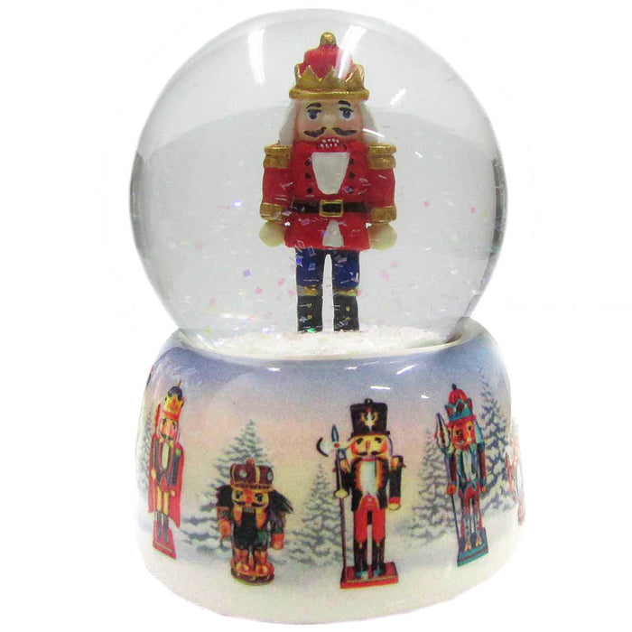 Musical Nutcracker Snow Globe Ceramic 65mm - Nutcracker Ballet Gifts