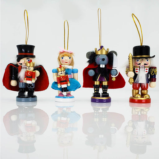 Stubby Nutcracker Suite Ornament Character Set of 4 in over 3 inch - Nutcracker Ballet Gifts