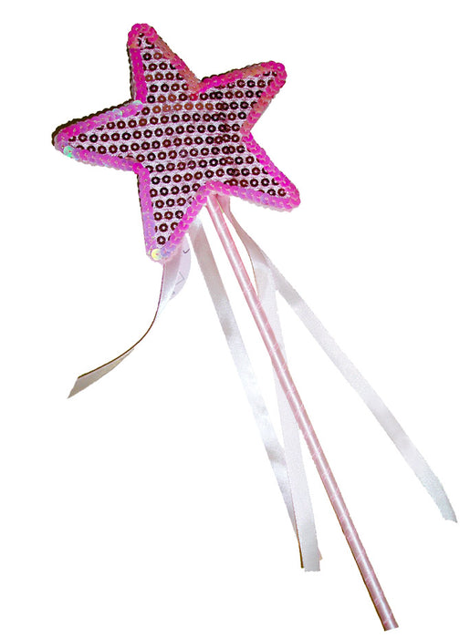 Pink Fancy Sequins Star and Ribons Wand - Nutcracker Ballet Gifts