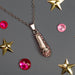 Silver Ballet Slipper Pendant with Pink Rhinestones Necklace - Nutcracker Ballet Gifts