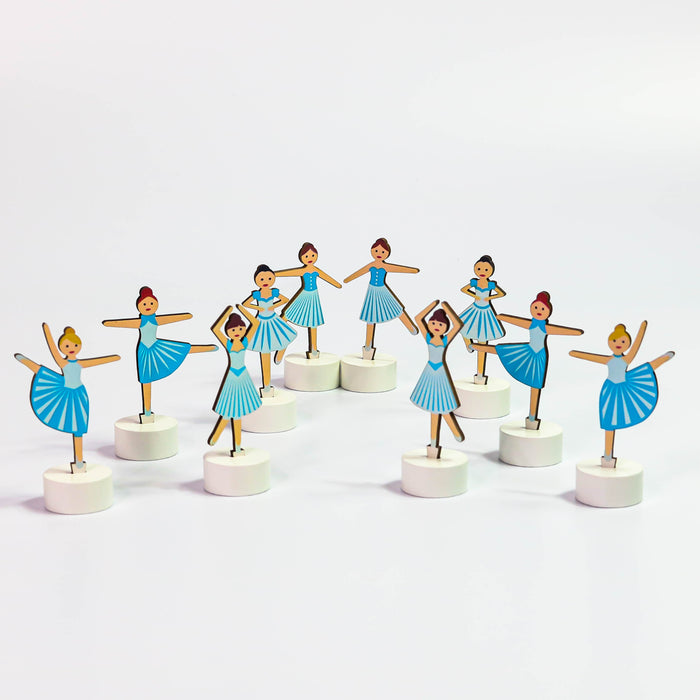 Nutcracker Accessory Set of 10 Snow Dancers - Nutcracker Ballet Gifts