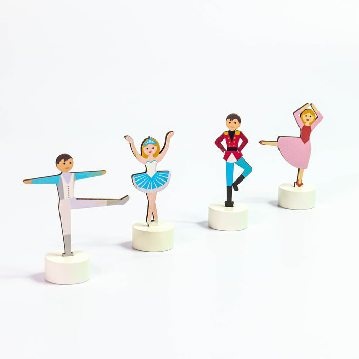 Nutcracker Accessory Set of 4 Clara and her friends - Nutcracker Ballet Gifts