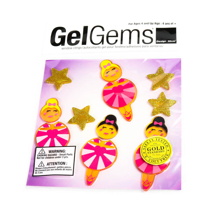 Tiny Dancer Gel Gem Window Clings - Nutcracker Ballet Gifts
