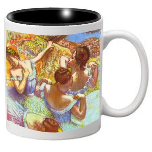 Nutcracker Ballet Mug DG07 Degas Dancers in Blue - Nutcracker Ballet Gifts